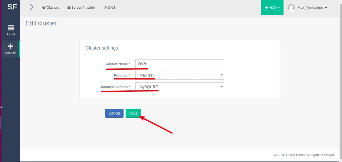 ovh wordpress step 5