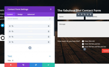 The Divi theme contact form module